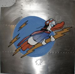 Nose Art Panel- Donald Duck Riding Lightning Bolts NAP-0119
