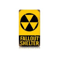 """Fallout Shelter"" Metal Sign SIG-0134"