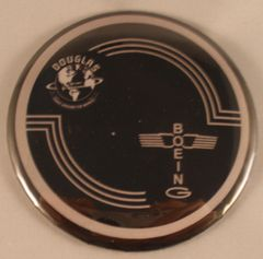 Wholesale lot of 100 Douglas Built B-17 Flying Fortress Control Yoke Hub Pin Back Buttons BTN-0116-100