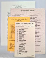 Reprints of 4 Checklists for WWII Bombers GRP-0111