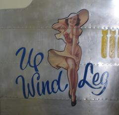"Nose Art Panel- ""Upwind Leg"" NAP-0105"