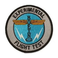 Boeing Experimental/Test Flight Embroidered Patch BOE-0119