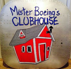 """Boeing B-17 Flying Fortress Cockpit Hatch """"Mr. Boeing's Clubhouse"""" NAP-0102"""