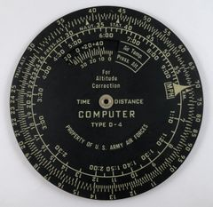 WWII Time & Distance Computer, Type D-4 COM-0113