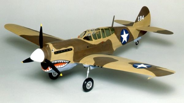 Guillow S Curtiss P 40 Warhawk Balsa Wood Model Airplane