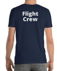 """Flight Crew"" T-Shirt, Navy Blue CLO-0101"