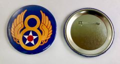Wholesale Lot of 58 8th Air Force Pin Back Buttons BTN-0105