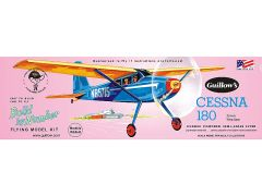 Guillow's Cessna 180 Balsa Wood Model Airplane Kit GUI-601