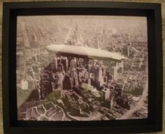 USS Los Angeles Over Manhattan, 1930 Framed Photo