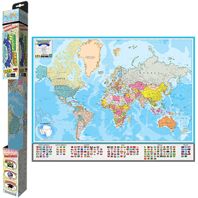 Popar World Map: Geography & Nations Smart Chart | Popar Interactive ...