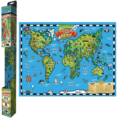Popar world map wonders landmarks smart chart popar interactive popar world map wonders landmarks smart chart small gumiabroncs Choice Image