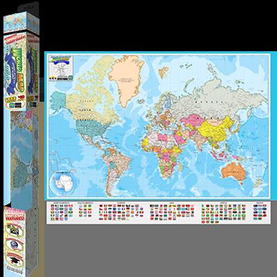 Popar World Map: Geography & Nations Smart Chart | Popar Interactive ...