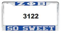 ZPB So Sweet License Frame