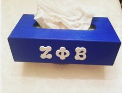 Royal blue tissue box