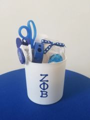 White Stationary Gift Basket