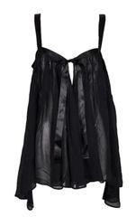cd070984aa 1990 s Dolce   Gabbana Sheer Black Silk Babydoll Mini Dress Chemise Top