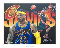 "LeBron James ""King James"" - Portrait"