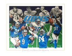 """Detroit Lions """"Memorable Moments"""""""