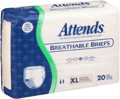 Attends Breathable Briefs HEAVY ABSORBENT(Diapers) X-Large 60ct.