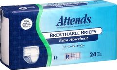 Attends Breathable Briefs EXTRA ABSORBENT/SEVERE (Diapers) REGULAR 72ct