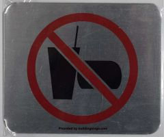 NO EATING NO DRINKING SIGN– BRUSHED ALUMINUM (ALUMINUM SIGNS 5X6)