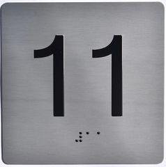 ELEVATOR JAMB- 11 - SILVER (ALUMINUM SIGNS 4X4)
