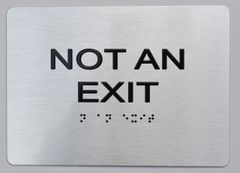Not AN EXIT ADA SIGN- The sensation line
