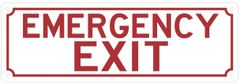 EMERGENCY EXIT SIGN (ALUMINUM SIGNS 4X12)
