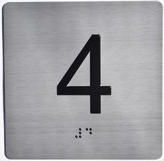 ELEVATOR JAMB- 4 - SILVER (ALUMINUM SIGNS 4X4)