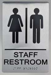 STAFF Restroom Sign ADA SIGN - The sensation line