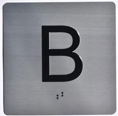 ELEVATOR JAMB- B - SILVER (ALUMINUM SIGNS 4X4)