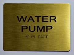 WATER PUMP SIGN- GOLD