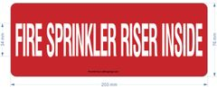 FIRE SPRINKLER RISER INSIDE SIGN (ALUMINUM SIGNS 3X8)