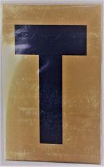 Apartment number sign T– (GOLD ALUMINUM ALUMINUM SIGNS 4X2.5)