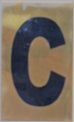 Apartment number sign C – (GOLD ALUMINUM SIGNS 4X2.5)