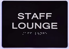 STAFF LOUNGE Sign