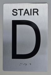 STAIR D ADA SIGN - The sensation line