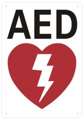 AED SIGN- AUTOMATED EXTERNAL DEFIBRILLATOR INSIDE SIGN (ALUMINUM SIGNS 10X7)