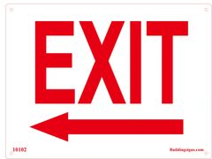 Exit Left Sign (Aluminum)