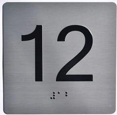 ELEVATOR JAMB- 12 - SILVER (ALUMINUM SIGNS 4X4)