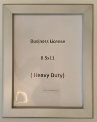 BUSINESS LICENSE FRAME 8.5 X 11 (HEAVY DUTY - ALUMINUM)