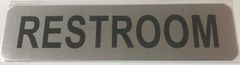 RESTROOM SIGN - BRUSHED ALUMINUM (ALUMINUM SIGNS 2X8)- The Mont Argent Line