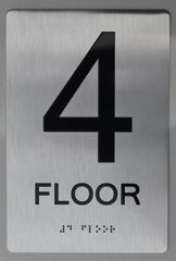 4th FLOOR ADA SIGN - The sensation line