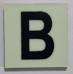 Glow in dark Number B sign The Liberty Line (Aluminum SIGNS 1x1, 3 RCNY §505-01)