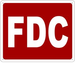 FDC SIGN- REFLECTIVE !!! (ALUMINUM 10X12)