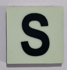 Glow in dark Number S sign The Liberty Line (Aluminum SIGNS 1x1, 3 RCNY §505-01)