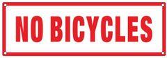 NO BICYCLES SIGN (ALUMINUM SIGNS 4X12)
