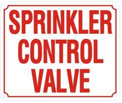 SPRINKLER CONTROL VALVE SIGN (ALUMINUM SIGNS 10X12)