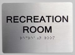 RECREATION ROOM ADA Sign - The sensation line