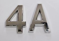 z- APARTMENT, DOOR AND MAILBOX LETTER 4A SIGN - LETTER SIGN 5 A- SILVER (HIGH QUALITY PLASTIC DOOR SIGNS 0.25 THICK)